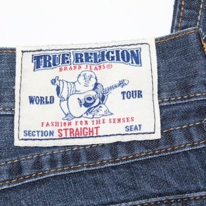 true religion jeans straight w/flaps mens 29 x 32